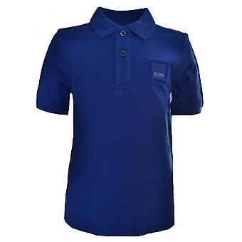 Hugo Boss Boys Hugo Boss Kids Blue Short Sleeved Polo Shirt