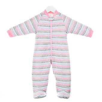 Uh-Oh! Baby slaapzak met poten 3,0 tog warmte rating Multi roze streep