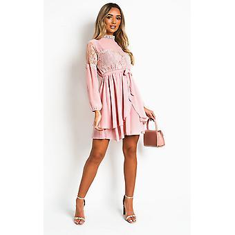 IKRUSH Womens Lanah Lace Shift Dress