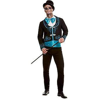 Day Of The Dead Kostüm Erwachsene Schwarz