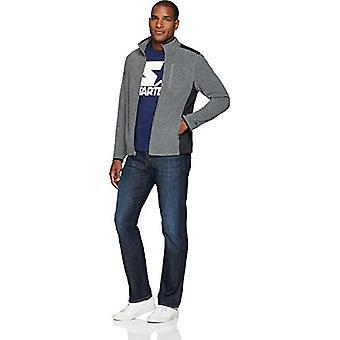 Starter Men's Polar Fleece Jacket, Exclusive, Vapor Grey Heather, Medium