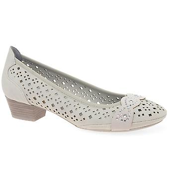Marco Tozzi Adoration Womens Punched Detail Court Shoes