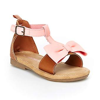 carter's Jente's Debora Bow-Accented Sandal, Brun, 11 M AMERIKANSKE Småbarn