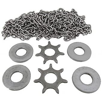 Longcase chain & steel sprocket set budget