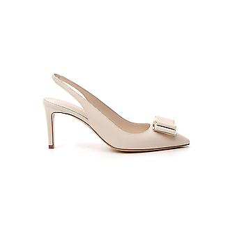 Salvatore Ferragamo 01p845715278 Women's White Leather Sandals