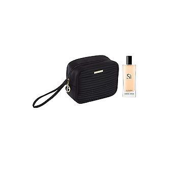 Armani Si Femme Eau de Parfum Spray 15ml mit Make-up Tasche
