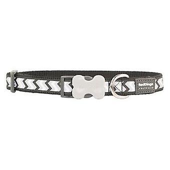 Red Dingo Dog Collar Reflective Ziggy Black