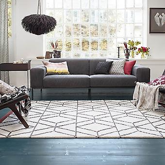 Hexagon Rugs 7703 01 By Esprit In Ivory And Rust