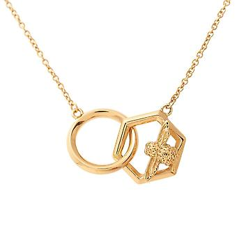 Olivia Burton Watches Obj16amn20 Honeycomb Bee Necklace Gold