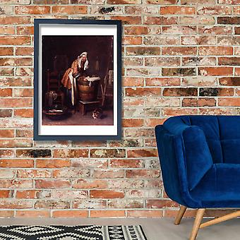 Jean Chardin - Washerwoman Poster Print Giclee