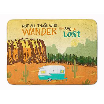 Retro Camper Camping Wander Machine Washable Memory Foam Mat