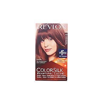 レブロン Colorsilk Tinte #43 castaño メディオ ドラド女性用