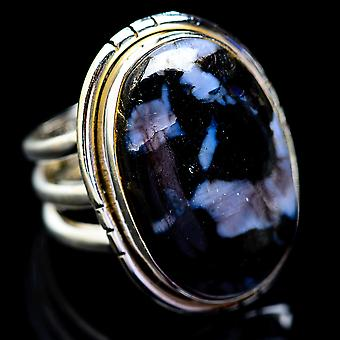 Large Gabbro Ring Size 6.75 (925 Sterling Silver)  - Handmade Boho Vintage Jewelry RING2907