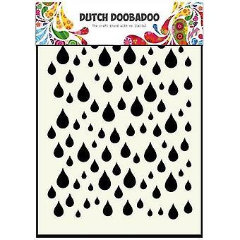 Dutch Doobadoo Dutch Mask Art stencil Rain drops A6 470.741.002