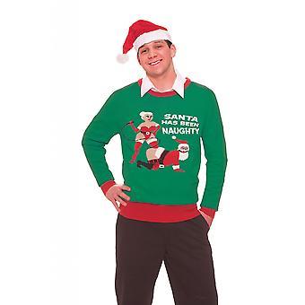Bristol Novelty Unisex Adults Naughty Santa Christmas Jumper