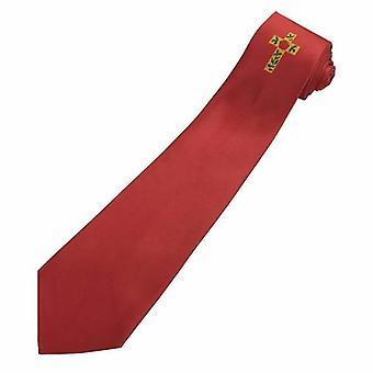 Masońskie 100% jedwabiu róża croix stopień krawat czerwony z logo