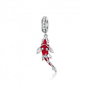Sterling Sølv Vedhæng Charm Lucky Fish - 6172