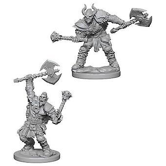 Half-Orc Male Barbarian Pathfinder Deep Cuts Sunpainted Miniatures (Pack de 6)