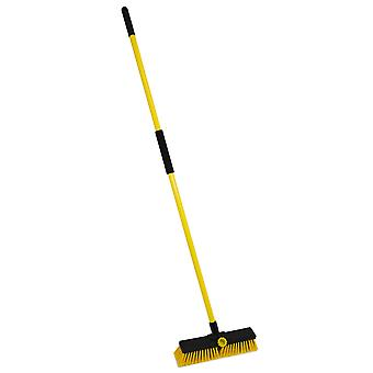 Charles Bentley 14&Bulldozer Yard Broom Sweeper Heavy Duty Industrial med handtag