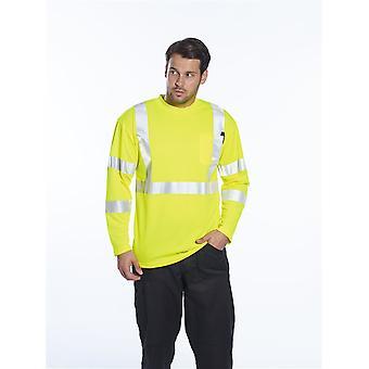 Portwest hi-vis long sleeve pocket t-shirt  s191