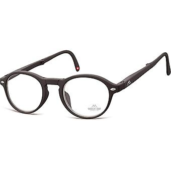 Foldable reading glasses matte black thickness +3.00 (box66)