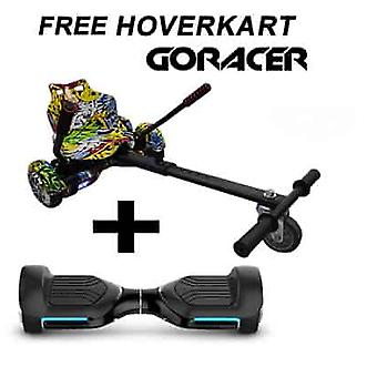 G PRO Black Segway with a Racer Hip Hop Hovercart