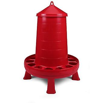 Gaun Plastic Poultry Feeder 16 KG. With Legs (Red)