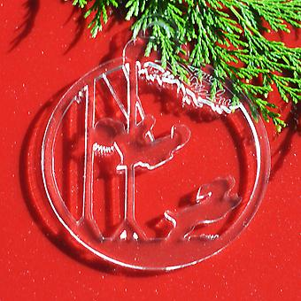 6PK子のスイングクリアアクリルクリスマスの装飾