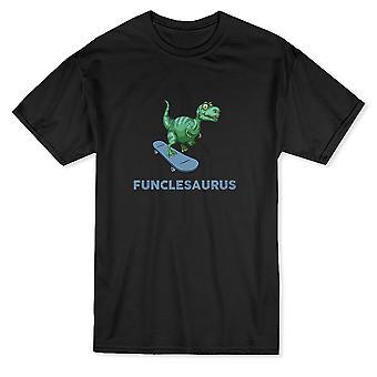 Funclesaurus динозавр скейтборд графики Мужская футболка