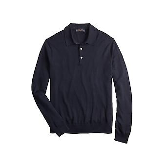 Brooks Brothers Men's Suéter polo de seda y algodón