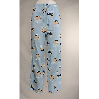 Dog Is Good Women's Pajama Pants Dog Print Light Blue