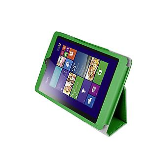 Mágneses PU bőrtok huzat a Lenovo MiiX 3 7.85&Tablet[Zöld]