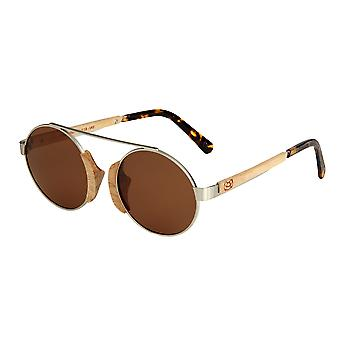 Earth Wood Anakena Polarized Sunglasses - Cedar/Brown
