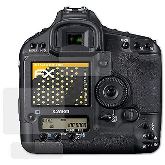 atFoliX Glass Protector compatible with Canon EOS 1D Mark III Glass Protective Film 9H Hybrid-Glass