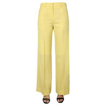 Ps By Paul Smith W2r094tb3040830 Women's Yellow Wool Pants
