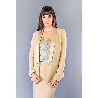 Twinset Rafia Beige Single Button Blazer