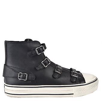 الرماد الأحذية العذراء بلاك منهاج مشبك المدربين