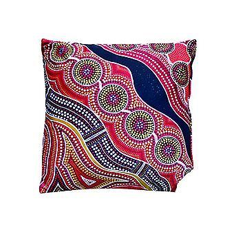 Rich Lands Aboriginal Design Cushion Cover