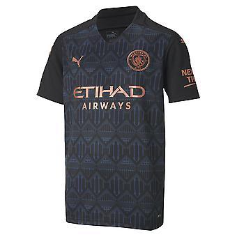 بوما مانشستر سيتي 2020/21 أطفال قصيرة كم بعيدا قميص كرة القدم الأسود