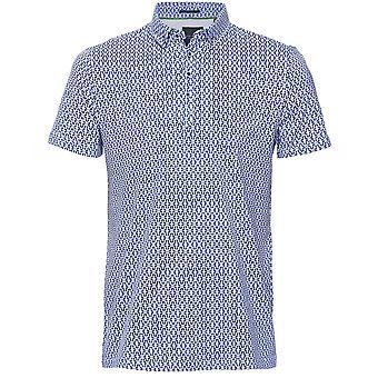 Guide London Patterned Jersey Polo Shirt