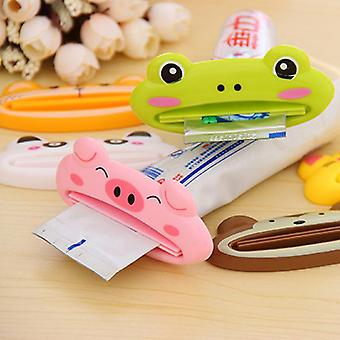 Cartoon Animal Plastic Toothpaste Dispenser -  Cute Rolling Tube Squeezer And Holder For Bathroom