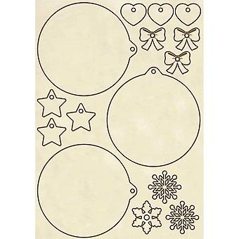 Wooden Shapes A5 Christmas Spheres (KLSP050)