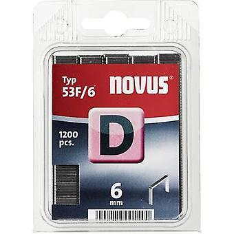 Type 53 F flat wire staple 1200 pc(s) Novus 042-0374 Clip type 53F/6 Dimensions (L x W) 6 mm x 11.3 mm