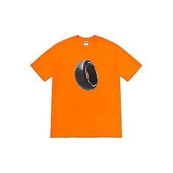 Supreme Reifen Tee Orange - Kleidung