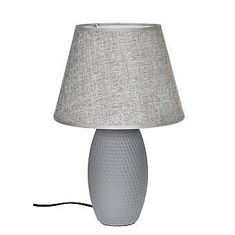 Lamp table grey ceramic H39 cm