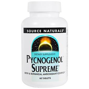Fuente Naturals, Pycnogenol Supreme, 60 Tabletas