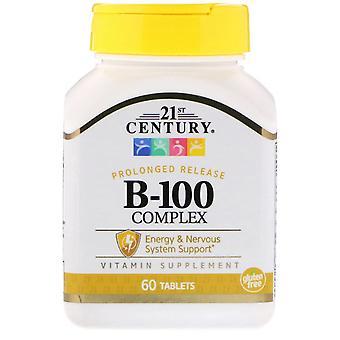 21st Century, B-100 Complex, Version prolongée, 60 tablettes