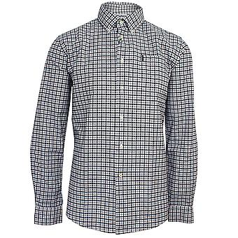 Barbour men's grey gingham shirt