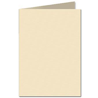 Crème pâle. 210mm x 297mm. A5 (Long Edge). 240gsm Carte pliée Vide.