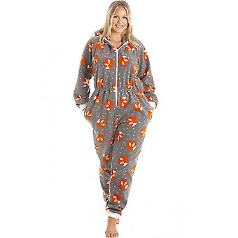 Camille Camille Womens Fox Print Soft Fleece Onesies